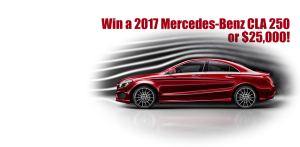 Support impower and you can win a 2017 mercedes benz or for Mercedes benz raffle 2017
